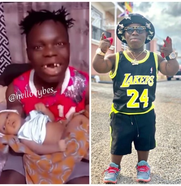 Shatta Bundle Sings Funny Melodious Songs With His Gapped Teeth For His Newly Born Baby [WATCH]