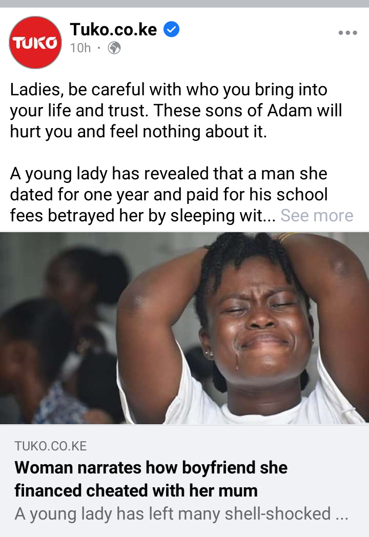 Lady Cries Out After She Caught Her Boyfriend in The Act With Her Mother [WATCH]