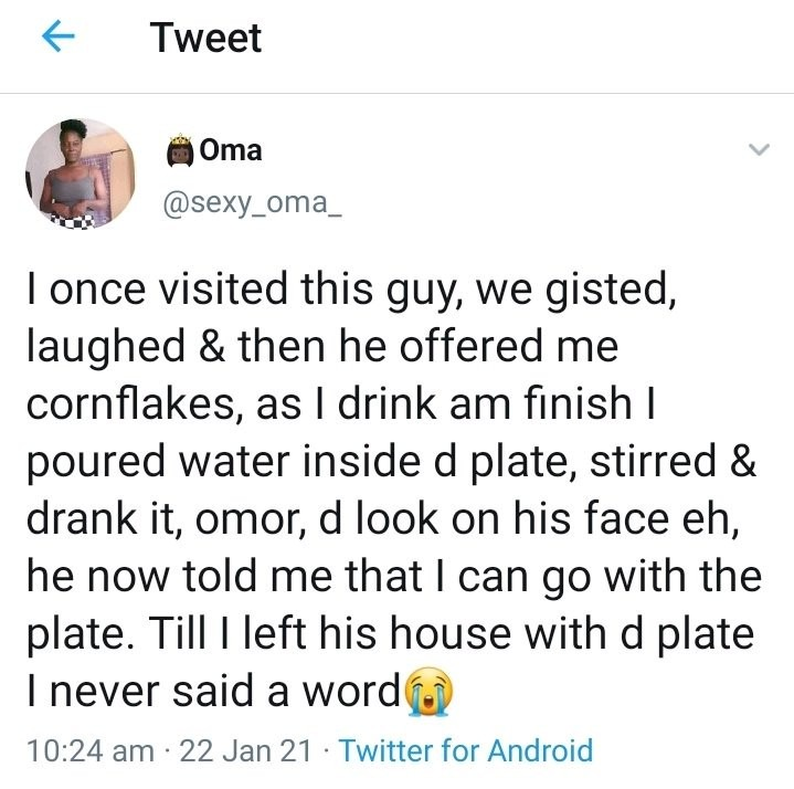 """""""I Once Visited This Guy, We Gisted, He Offered Me Cornflakes, Then This Happened"""" - Lady"""