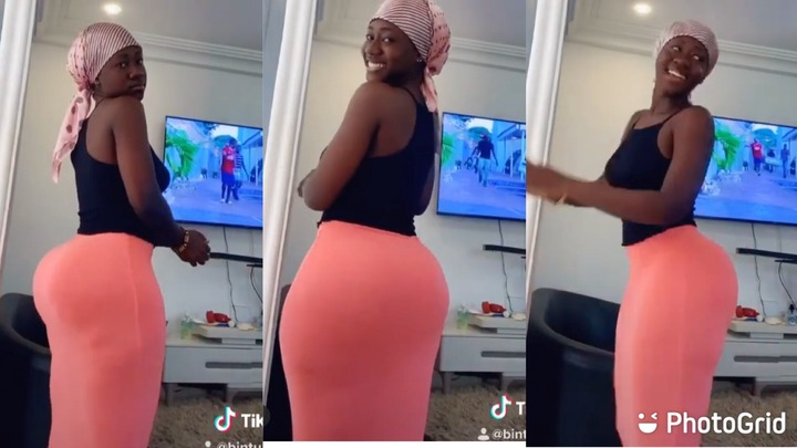Ghanaian Lady Causes Confusion With Her Heavy Backside [WATCH]