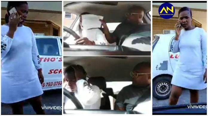 Driving school instructor caught on camera beating up female learner [Watch]