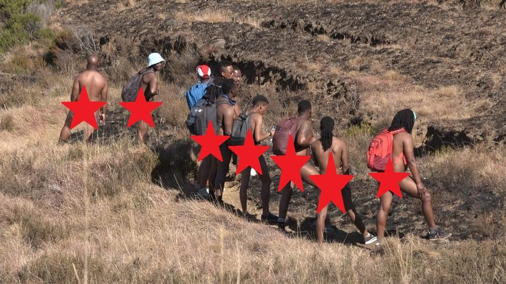 Group of SA Men Including Well-Known Local Artists Spotted Hiking N@k£d [WATCH]