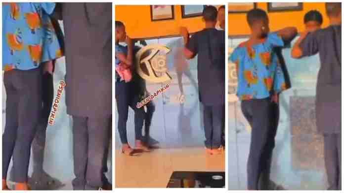 Shocking as two teenage lovers seen trying to book room in a hotel [Video]