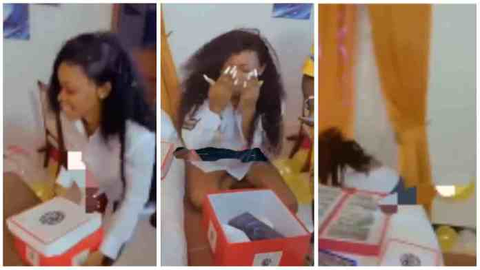 Moment lady almost died of shock after boyfriend surprised her with an iPhone 12 [Watch]