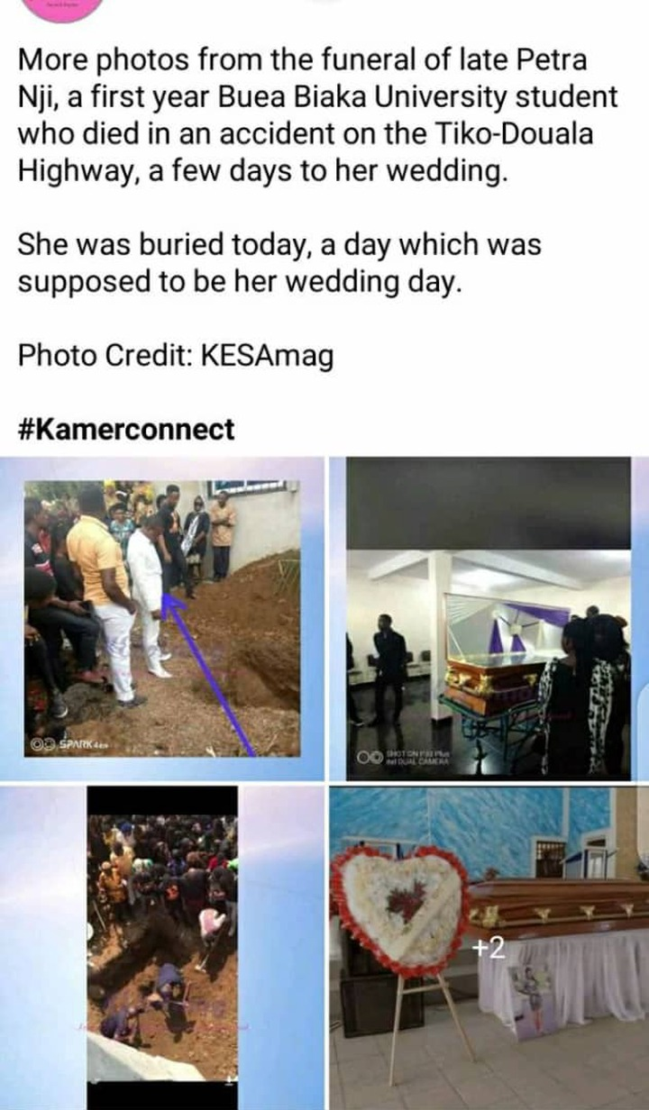 """""""Wedding Day Turned Into Burial Day"""" Tears Flow As Lady Who Died 5 Days To Her Wedding Buried"""