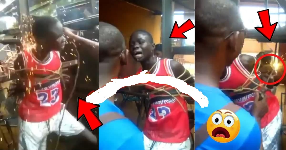 Watch How This Young Boy who was tied and electrocvt3d for allegedly ste@l!ng Gh¢20 [Watch Video]