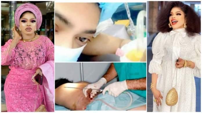 Cross-dresser Bobrisky rushed to hospital after plastic surgery [video]