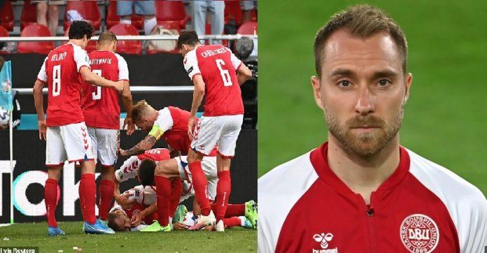 Moment Christian Eriksen collapses during Denmark vs Finland game [Full Video]